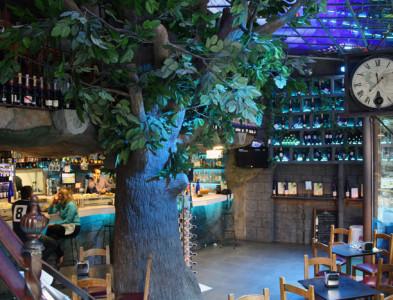 Decoración del restaurante New Scala de Bilbao