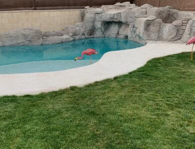 Decoración de piscina particular
